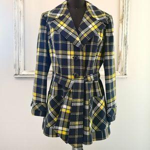 Vintage 90's Clueless Windsmoor Plaid Coat